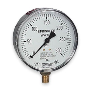 Fire sprinkler gauges