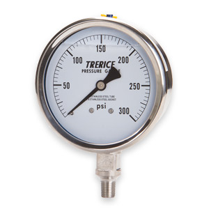 Sprinkler & Fire Pump Gauges - Trerice Liquid Filled Fire Pump Discharge Replacement Gauge