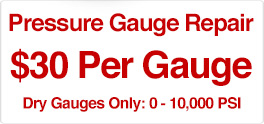$30 Per Guage for Pressure Gauge Repair